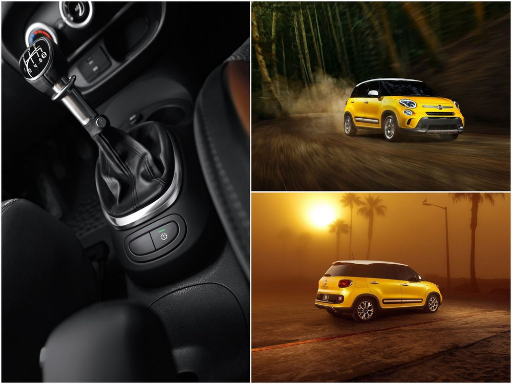FIAT 500L Trekking — кнопка Traction+, фото